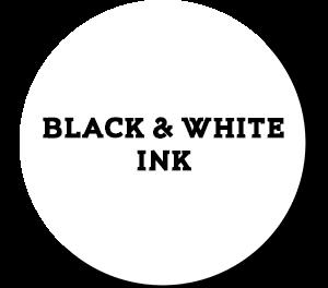 דיו שחור-לבן